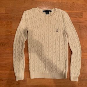 Ralph Lauren Sport Cream Cable Knit Sweater Small